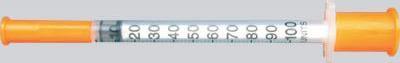 Инсулиновый шприц на 100 делений