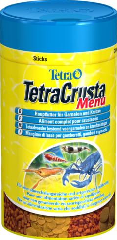 Tetracrusta Menu — набор из 4-х видов кормов для креветок и крабов в одной упаковке
